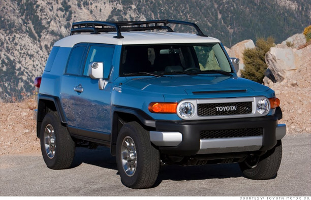 Cars best resale value in 18 flavors mid size suv toyota fj cruiser 11 cnnmoney com
