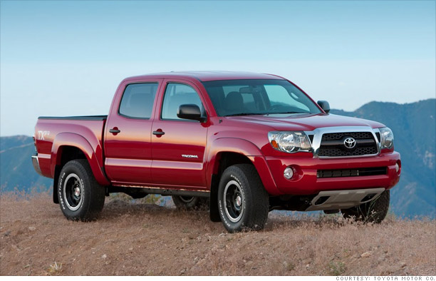 Cars top 10 best resale value 3 toyota tacoma 3 cnnmoney com