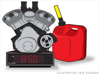'Gas-powered alarm clock'