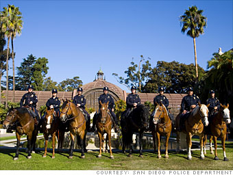 Police horses sent back to the stables - San Diego