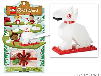 Target's LEGO dog card