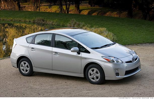 Green car - Toyota Prius