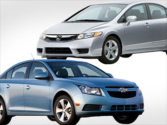Chevrolet Cruze vs. Honda Civic