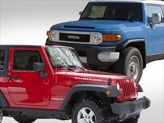 Jeep Wrangler vs. Toyota FJ