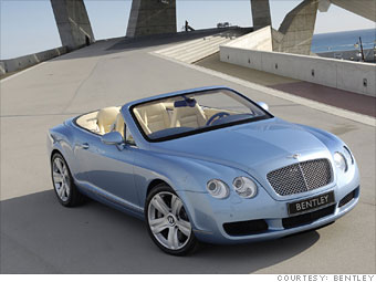9. Bentley Continental GTC convertible