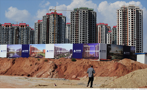 Pop of the China housing bubble