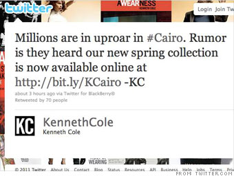 Kenneth Cole sale sparks Arab Spring?