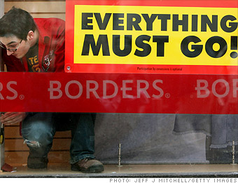 Borders stores close, 10,700 jobs lost