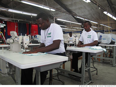 Haitians train for work in the garment industry