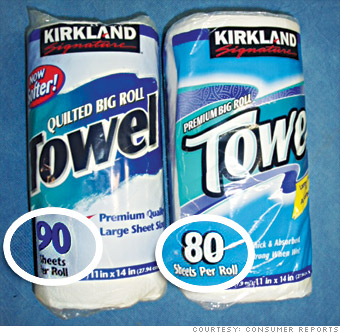 Kirkland  Costco  paper towels. Your favorite products   now 20  smaller   Kirkland  Costco  paper