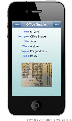 Store receipts on your phone