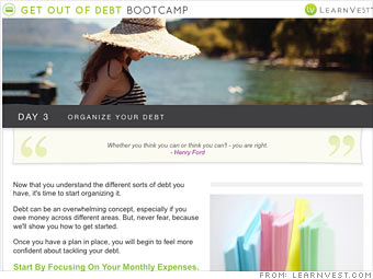 Get out of debt bootcamp