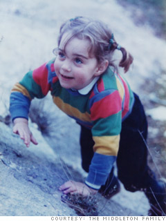 Kate MIddleton, age 3
