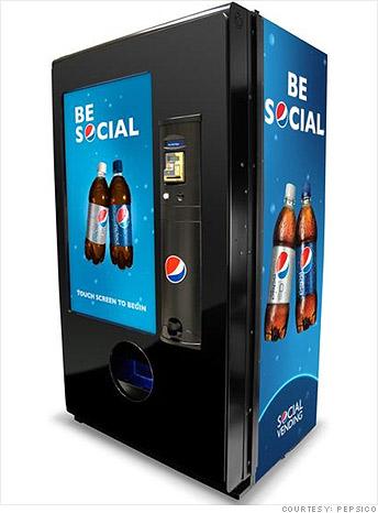how to get a pepsi vending machine
