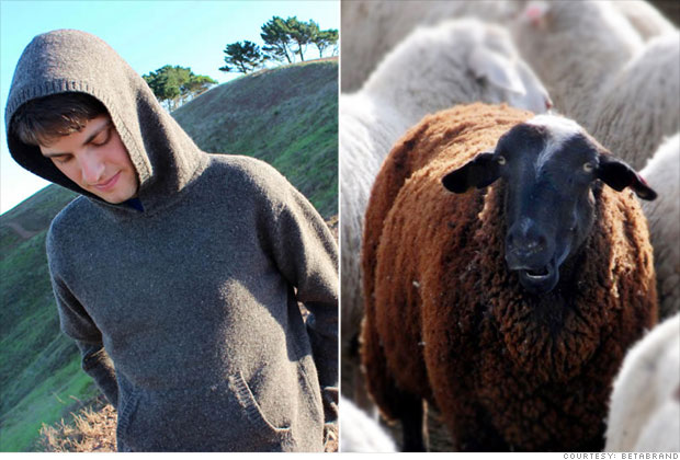 Black sheep wool sweater