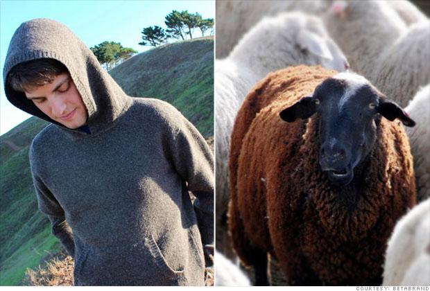 Black sheep wool sweater