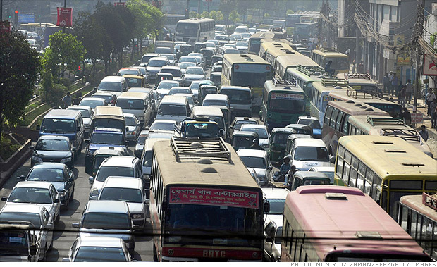 traffic congestion in big cities City traffic and congestion is a growing problem, but these four options offer a potential solution.
