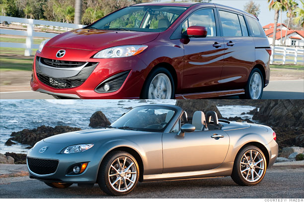 Mazda Mazda5 and MX-5 Miata