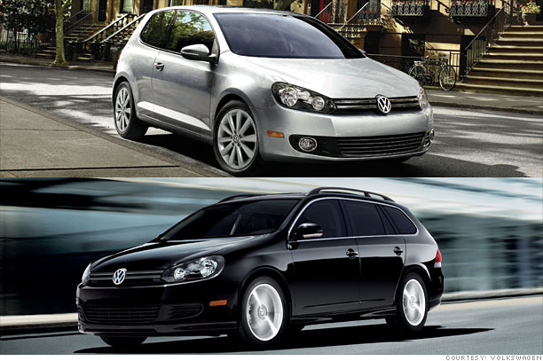 VW Golf TDI and Jetta Sportwagen TDI