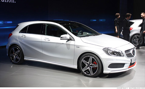 13 cool cars from the geneva motor show mercedes benz a class 5 cnnmoney. Black Bedroom Furniture Sets. Home Design Ideas