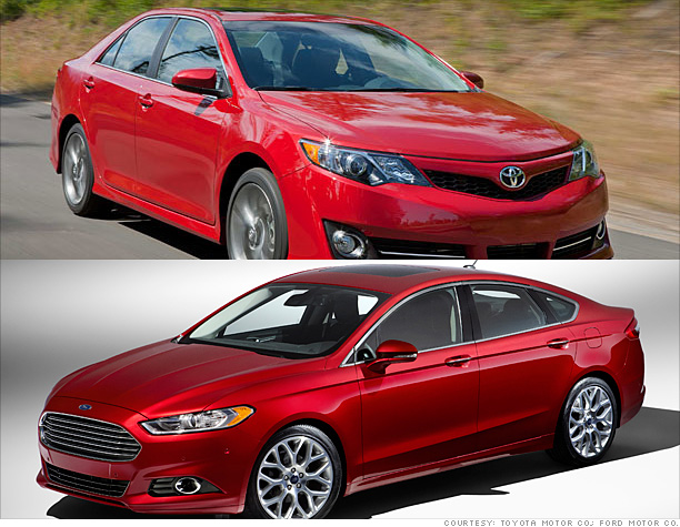 2. Camry tops Fusion