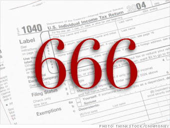 Tax forms contain the 'mark of the beast'