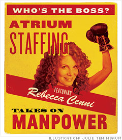 Atrium staffing vs. Manpower