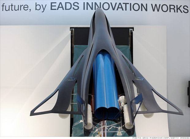 Seaweed-powered supersonic airplane