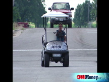 Golf carts take to the road