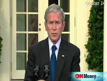 Bush: U.S. to buy bank shares