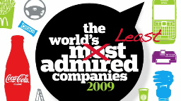 Least admired companies