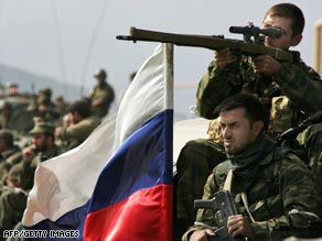 Russian President Dmitry Medvedev has called a halt to the advance of Russian troops in Georgia.