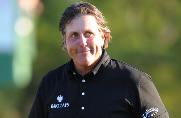 Phil  Mickelson could not contain his emotions after he claimed his third  Masters title.