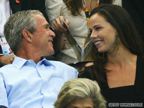 Barbara Bush with her father, former President George W. Bush, in  2008.