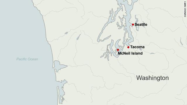Mcneil Island Map Last island prison in U.S. closes   CNN.com