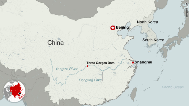 Three Gorges Dam Map Has the Three Gorges Dam created Chinese drought zone?   CNN.com
