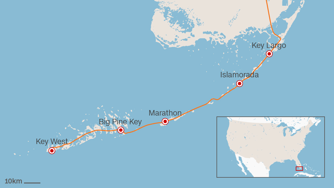Map Of Florida Key West.Florida Keys Best Stops On The Overseas Highway Cnn Travel