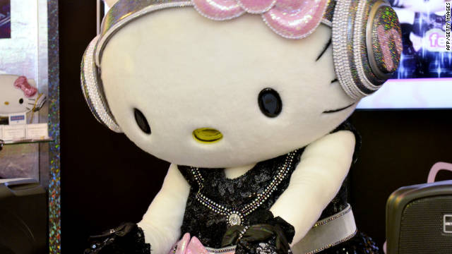Hello Kitty is the dj at Sanrio headquarters in Tokyo, Japan.