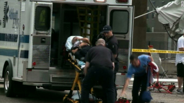 Tent Collapse in St. Louis Ambulance