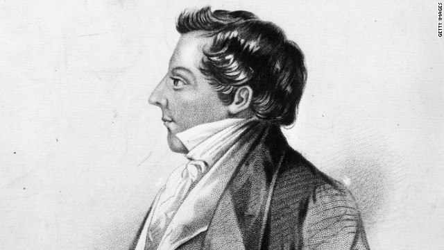 A lithograph of Joseph Smith, the founding prophet of the Mormon church.