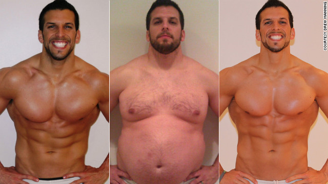 Fitness trainer Drew Manning gained 70 pounds in six months, then lost it all before a year was up.