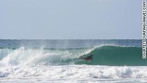 37. Shark-free Oz surfing.
