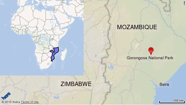 Gorongosa National Map. Click to expand