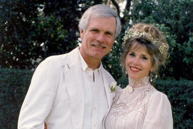 A few years after divorcing his second wife, Turner married actress Jane Fonda in 1991. - (Turner Family Collection)