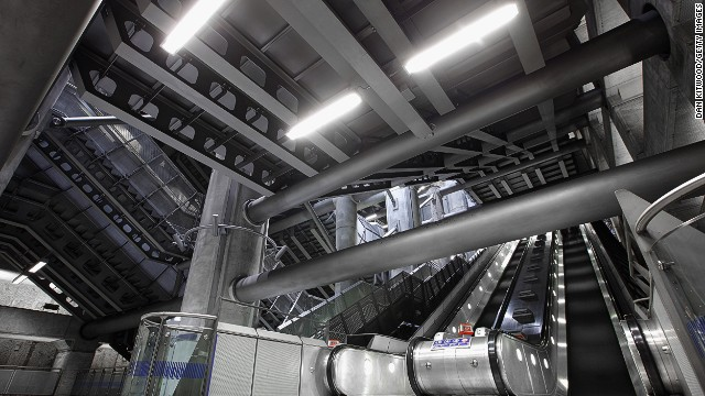 London Underground might be the world's oldest metro but Westminster has to be one of the most futuristic-looking stations anywhere. The austere design opened days before the new millennium.