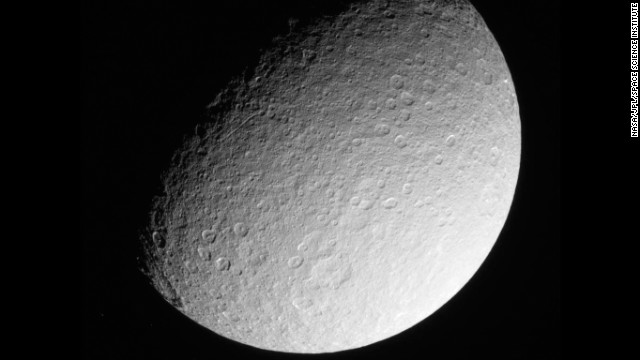 This image was taken on March 10, 2013, by NASA's Cassini spacecraft. Launched in 1997, the probe is orbiting Saturn and its numerous moons. Cassini has provided new understanding, not to mention breathtaking photos, of that corner of the solar system.