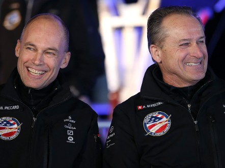Bertrand Piccard and Andre Borschberg.