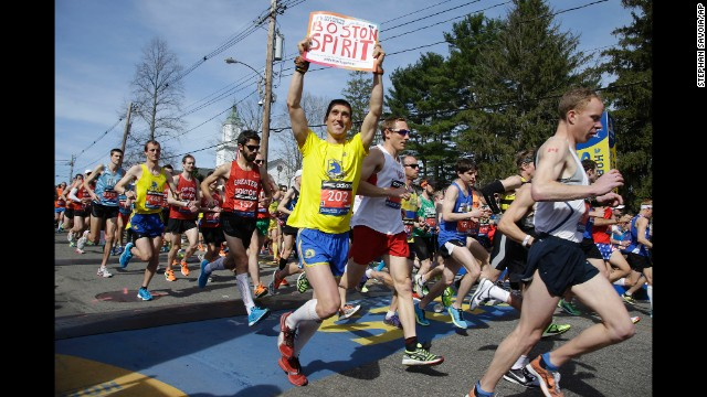 Thumbnail for A year later, Boston Marathon runners race again