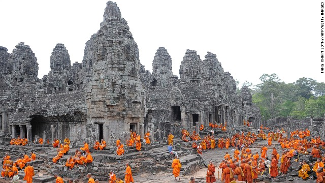 Bayon Temple in Siem Reap is one of two Cambodia destinations on TripAdvisor's Top World Landmarks list.