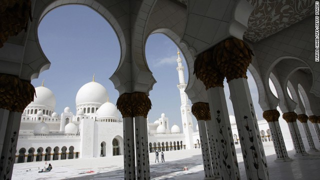 Completed in 2007, Sheikh Zayed Grand Mosque in Abu Dhabi, second on the list, is large enough to accommodate 40,000 worshipers.